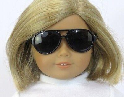 "Lovvbugg Black Aviator Sun glasses for 18"" American Girl Doll Clothes Accessory"
