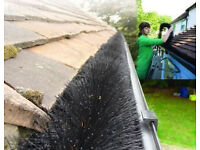 4m LONG Hedgehog Gutter Guard / Brush Clean Clear Blocked Leaves Twigs Leaf Filter