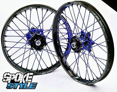 Spoke Style Speichen Cover Überzug MX Motocross Blau Yamaha YZ YZF 125 250 450