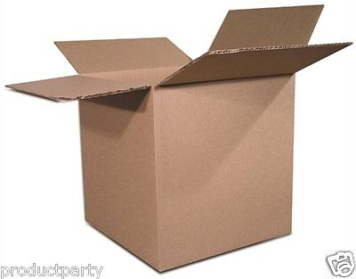 Lot Of 5 Boxes Bulk Quality Lot 6x6x6 Small Brown Cardboard Ship Generic Box