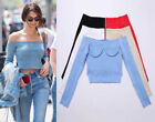 Cotton Blend T-Shirts Cropped Tops for Women