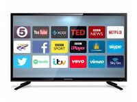 """GOODMANS 40"""" SMART 4K UHD LED TV Wi-Fi ANDROID APP's FREEVIEW HD USB HDMI"""