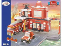 JOB LOT TOYRIFIC FIRE ENGINE STATION RESCUE SET LEGO COMPATIABLE BUILDING BRICKS BLOCKS
