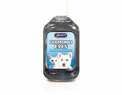 Johnson's Diamond Eye Tear Stain Remover Facial Cleaner for Cats & Dogs 125ml