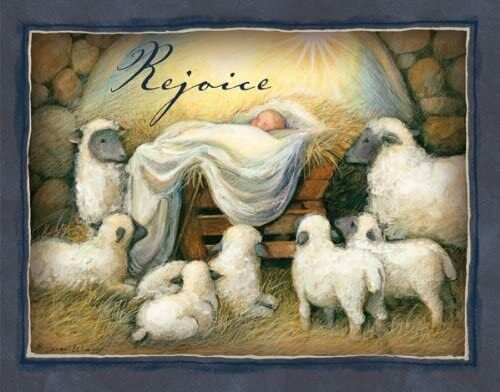 """New LANG - """"Rejoice"""", Boxed Christmas Cards, Artwork by Susan Winget 16 Cards"""