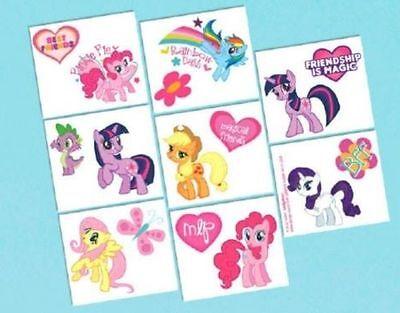 My Little Pony Birthday Party 16 Tattoos Favors - Pony Birthday Party