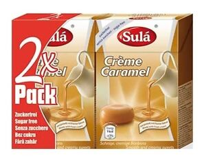 2 Packs of Sula Sugar Free Sweets - Caramel, Low Carb, Dukan, Diabetic, Atkins