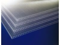 6mm twin wall polycarbonate sheets 1220x1220mm (4 feet square) greenhouse cold frame