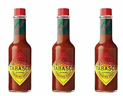 Tabasco Habanero Pepper Hot Sauce, 5 oz (Pack of 3)