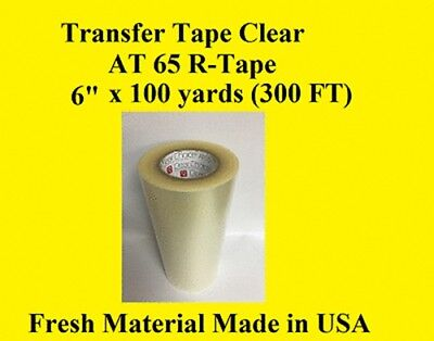 1 Roll 6 X 100 Yard Application Transfer Tape Vinyl Signs R Tape Clear At 65