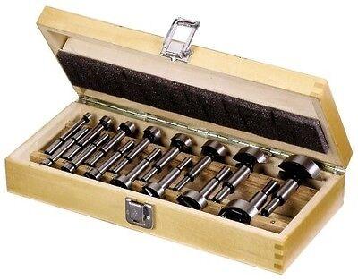 15 Forstnerbohrer 10-50mm im hochwertigen Holzkasten Topfbohrer Set Satz