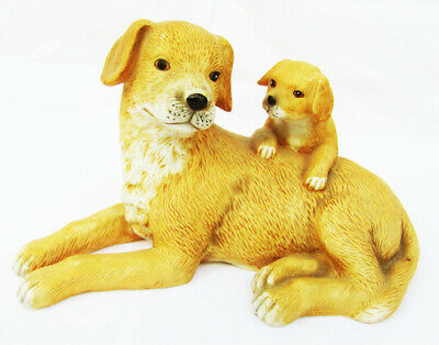 Used, Homco yellow Labrador retriever and pup #1471 figurine for sale  Hillsdale