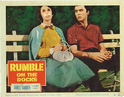 Rumble On The Docks Original Lobby Card James Darren 1956