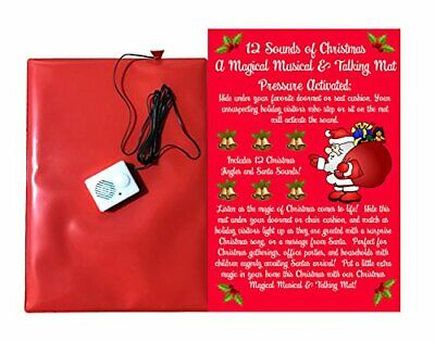 Christmas Doormat -12 Musical Sounds of Christmas with 6 Awesome Santa Sounds an