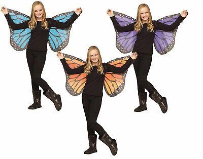 Soft Butterfly Wings Monarch Blue Yellow Purple Black Fancy Dress Girls Child  (Monarch Butterfly Wings)