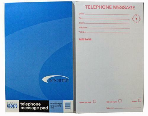 Telephone Message Pad Office Supplies Amp Stationery Ebay