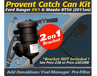 ProVent Oil Catch Can Kit for Ford Ranger PX1 22L 32L All Mazda BT50 2011 on