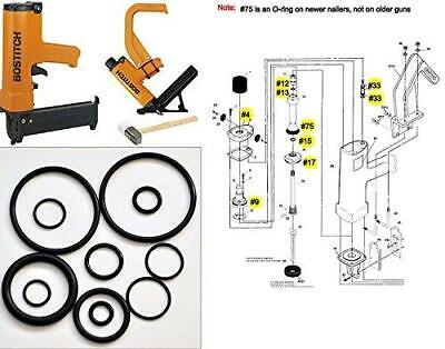 Tool Repair Kit For Miii Miiifn Miiifs Bostitch Hardwood Floor Nailer O-ring Kit