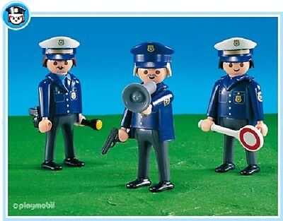 Playmobil 7799 city life rescue 3 Police Men sealed bag NEW patrolman figure 170
