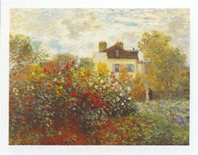 The Artists Garden by Claude Monet 9.5x12 Museum Art Print Poster
