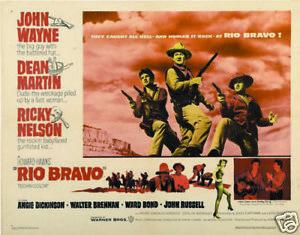 Rio Bravo John Wayne cult western movie poster print