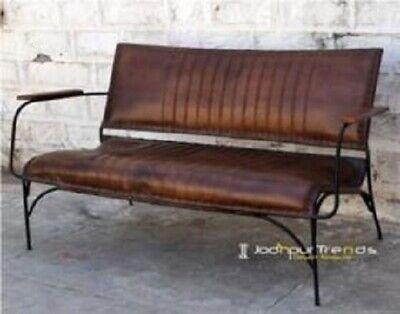 Sillón o Sofá de cuero autentico galeon retro vintage