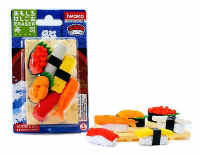 Iwako Japanese Eraser Blister Set - Sushi Assortment