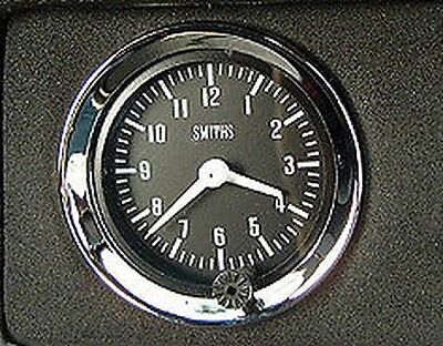 """Land Rover Series 1 2 2a Gen Smiths Dash Panel 2"""" Auxiliary Analogue Clock Gauge"""