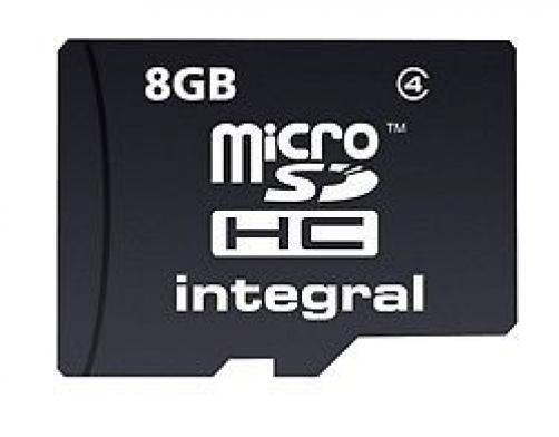 Integral Micro Secure Digital SD HC Memory Card 8GB Mobile Phone Camera