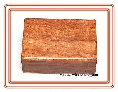 PLAIN Wooden Carved Tarot Box Wicca Pagan 4 X 6