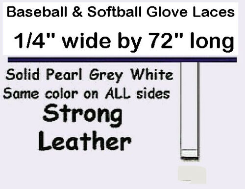 """4 Pearl WHITE lace 1/4"""" x 72"""" RE-LACE & Repair Leather BASEBALL Softball GLOVE"""