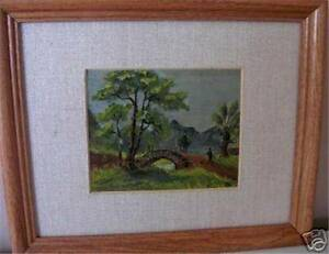 HUNTING COUNTRY SCENE SIGNED G WR OIL ON BOARD