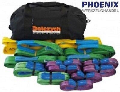 DoColor PES Schlaufenband-Paket  15-teilig / Hebeband Set / Krangurt