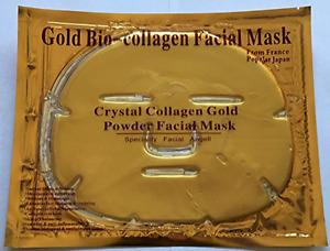 24K Gold Collagen Crystal Whitening Moisturizing Face Mask 6Pk