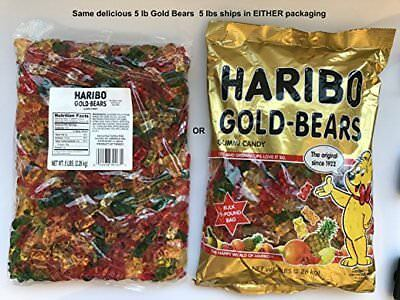 Haribo Original Gold-Bears Gummi Candy, 5-Pound Bag of Delicious Bears!  Ship...](Haribo Gummi Bears)