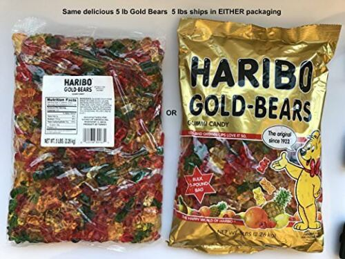 Haribo Original Gold-Bears Gummi Candy, 5-Pound Bag of Delicious Bears!  Ship...