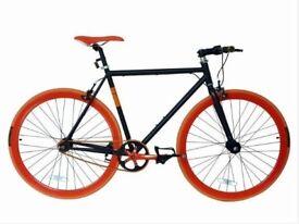 black / red , size 56cm. single speed bike for sale