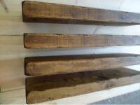"""reclaimed oak floating shelves brand """"new"""""""