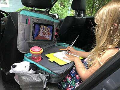 Kids Car seat Travel Tray road trip Hanging Tablet Holder Table Gray Toddler