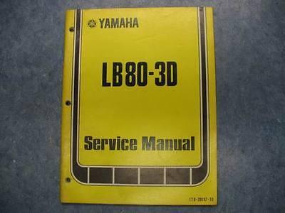 YAMAHA 1977 LB80-3D LB80 SERVICE OWNERS MANUAL REPAIR SHOP MAINTAINANCE TUNING
