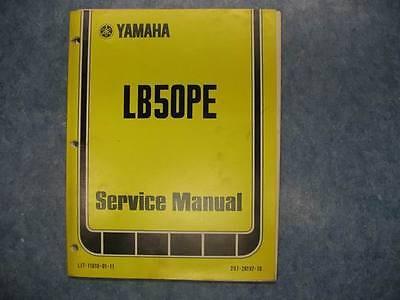 YAMAHA 1979 LB50 PE SERVICE OWNERS MANUAL REPAIR SHOP MAINTAINANCE TUNING