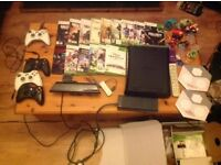 XBox 360 Console + controllers + Kinnect + 15 actual games plus downloaded games.