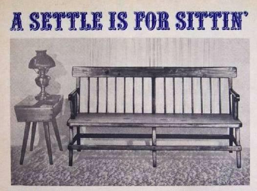 Early American Settee How-To Build PLANS