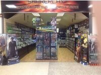 VIDEO GAME AND DVD SHOP FOR SALE 185K TURNOVER - SELLING 21K DUE TO RETIREMENT INCLUDES 30k STOCK
