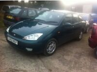 04 Ford Focus saloon 1.6 Mot,Factory Alloys
