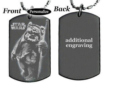 STAR WARS WICKET - Dog tag Necklace or Key chain / Pet ID tag + FREE ENGRAVING ()