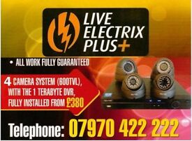 CCTV system supply and fit - 4 Cameras and a Recorder - from £380