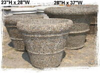 Pair of 2 Aggregate Planters  Great for Christmas Decor!