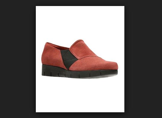 Clarks Artisan Suede Slip On Shoes Daelyn Monarch Rust Women's 8.5 New