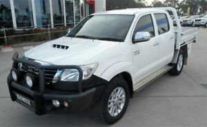 2015 Toyota Hilux KUN26R MY14 SR5 (4x4) White 5 Speed Automatic Dual Cab Pick-up Singleton Heights Singleton Area Preview